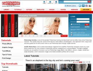 photoshopsociety.org screenshot