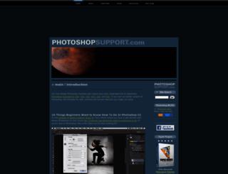 photoshopsupport.com screenshot