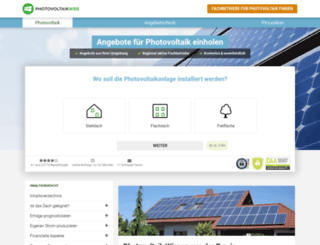 photovoltaik-web.de screenshot
