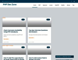 php-dev-zone.com screenshot