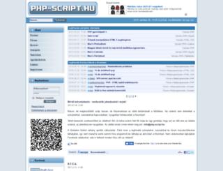 php-script.hu screenshot