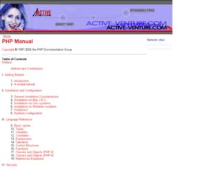php.activeventure.com screenshot