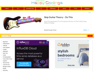 php.happycodings.com screenshot