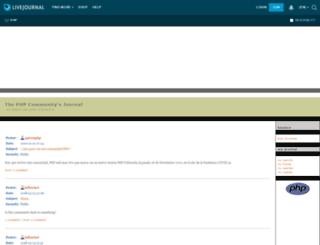 php.livejournal.com screenshot