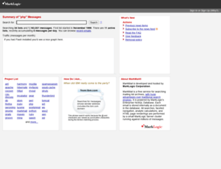php.markmail.org screenshot