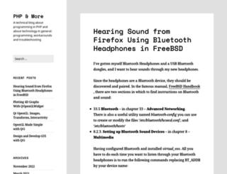 phpandmore.net screenshot