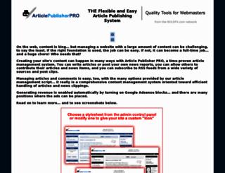phparticlescript.com screenshot