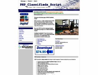 phpclassifiedsscript.com screenshot