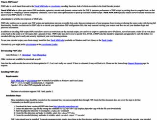 phpcoder.sourceforge.net screenshot