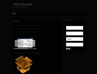 phpdecoder.wordpress.com screenshot