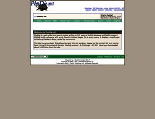 phpdig.net screenshot