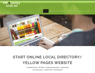 phpdirectoryscript.net screenshot
