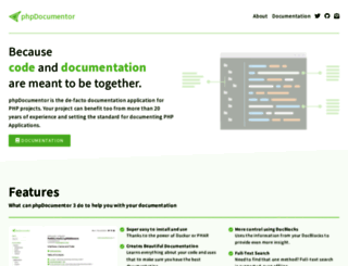 phpdoc.org screenshot