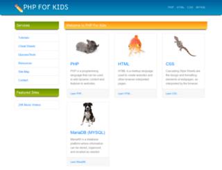 phpforkids.com screenshot