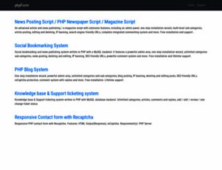 phpform.net screenshot