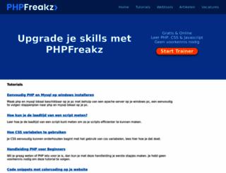 phpfreakz.nl screenshot