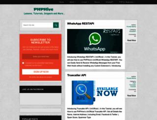 phphive.info screenshot
