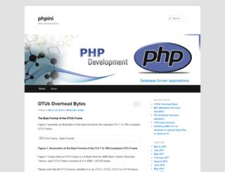 phpini.in screenshot