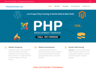 phpjavaseotraining.com screenshot
