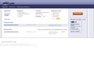 phpjobs.com screenshot