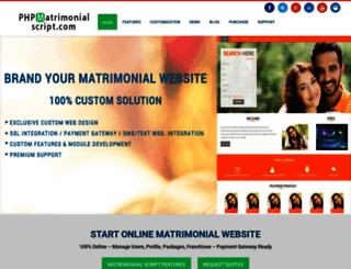 phpmatrimonialscript.com screenshot