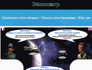 phpmyadmin.damocorp.com screenshot