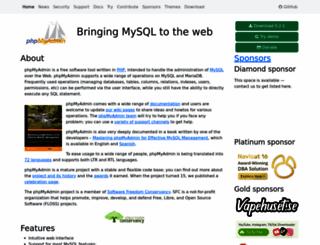 phpmyadmin.net screenshot