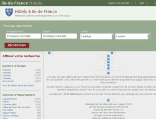 phpmyadmin.olympe-network.com screenshot