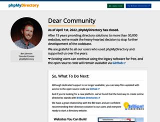 phpmydirectory.com screenshot