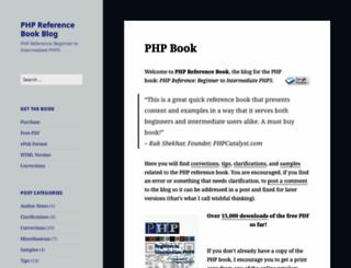 phpreferencebook.com screenshot