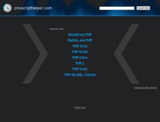 phpscripthelper.com screenshot