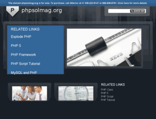 phpsolmag.org screenshot