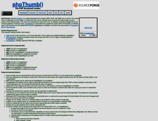 phpthumb.sourceforge.net screenshot