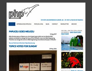 phpuceu.org screenshot