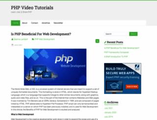 phpvideotutorials.com screenshot