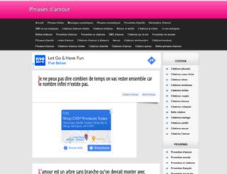 phrases-damour.blogspot.be screenshot
