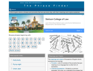 phrases.org.uk screenshot