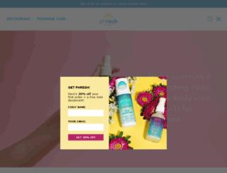 phreshdeodorant.com screenshot