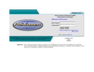 phsconnect.org screenshot