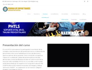 phtlsperu.org screenshot