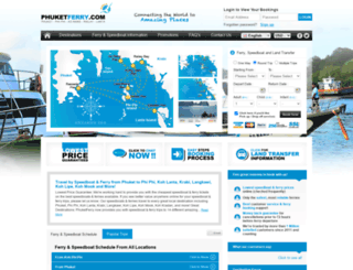 phuketferry.com screenshot
