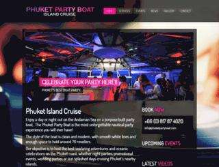 phuketpartyboat.com screenshot