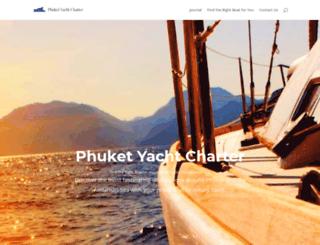 phuketyachtcharter.com screenshot