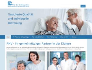 phv-dialyse.de screenshot