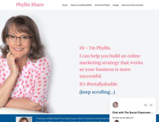 phylliskhare.com screenshot