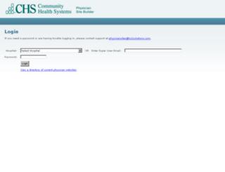 physiciansites.hs2solutions.com screenshot