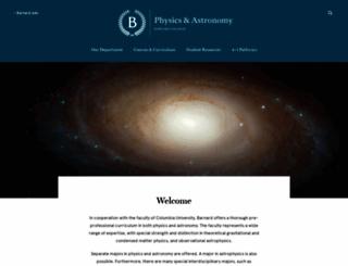 physics.barnard.edu screenshot