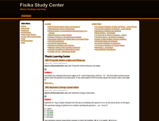 physics.fisikastudycenter.com screenshot