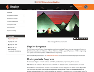 physics.isu.edu screenshot