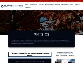 physics.mines.edu screenshot